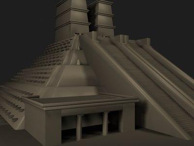 aztecs pyramid 3d max