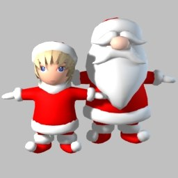3d santa elf claus