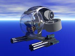 hovering napalm craft 3d model