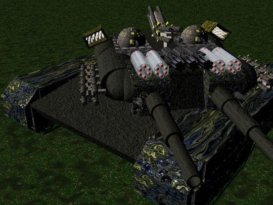 tank guns missiles 3d model