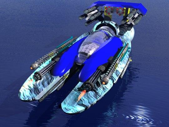 attack boat 3d model