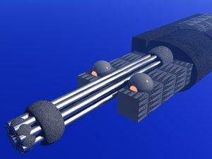 3d chaingun cannon