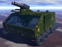apc armoured 3d model