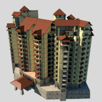 3d model of rise condominium