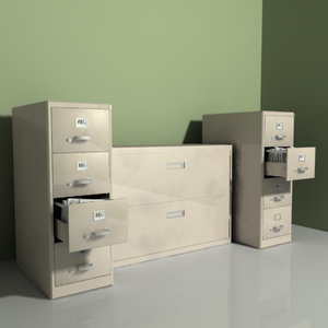 file cabinets filecabinets 3d model