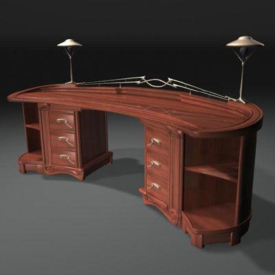 nouveau desk van 3d model