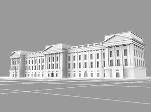 buckingham palace landmarks 3d model