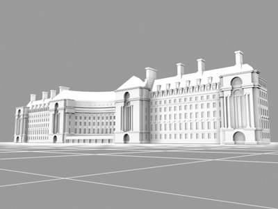 3d model county hall buildings