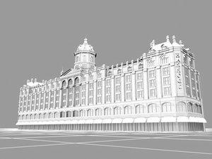 store harrods landmarks 3d model