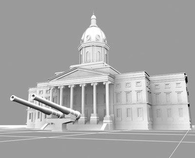 imperial war museum landmarks 3d model