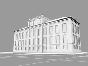 kensington palace london landmarks 3d model