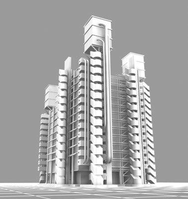lloyds london building 3d model