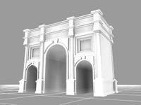 marble arch landmarks monuments 3d model
