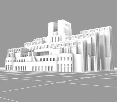 3ds max mi5 headquarters building london