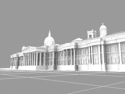 national gallery london landmarks 3d model