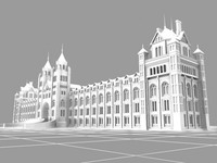 3d model natural history museum london buildings