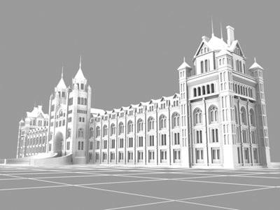 3d model natural history museum london buildings