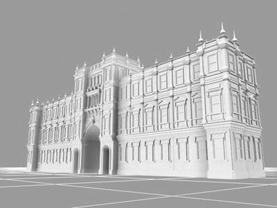 royal academy arts landmarks 3d max