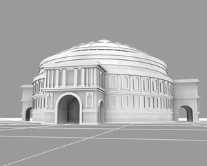 royal albert hall landmarks 3d model