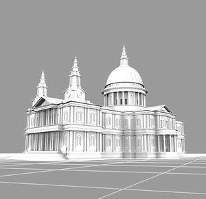 st cathedral landmarks 3d model