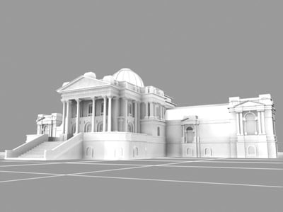 tate britain buildings monuments 3d model