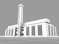 free tate modern landmarks buildings 3d model
