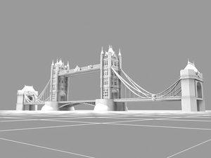 3d tower bridge london landmarks model