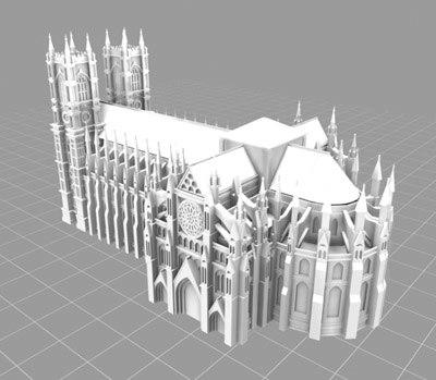westminster abbey london 3d model