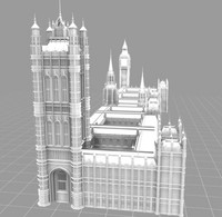palace house parliament london landmarks 3d model