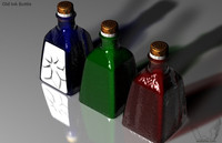 old ink bottle c4d