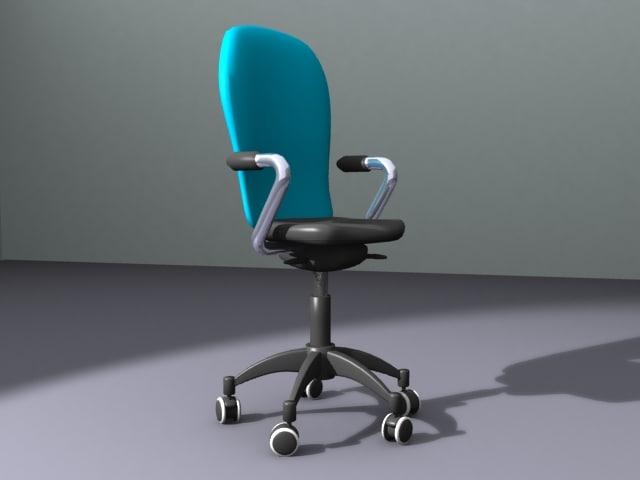 3d model lightwave office chair
