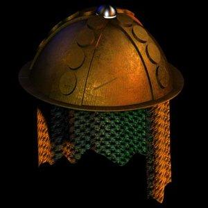 3ds max bronze helmet