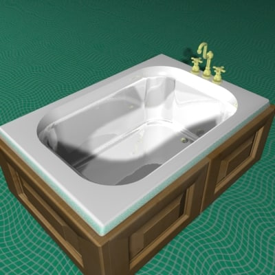 bath luxury water 3d model