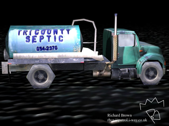 septic oil tanker 3d model