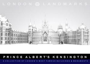 3d model prince kensington buildings albert