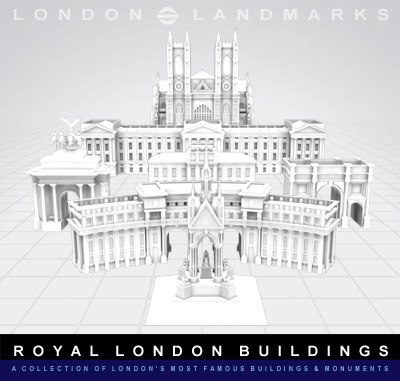 buildings monuments royal landmarks 3d model