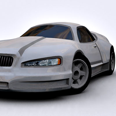 3ds max car sport concept