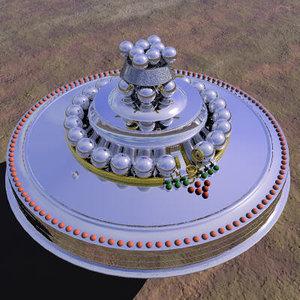 3d spaceship beamship model