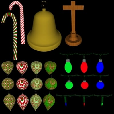 3ds max pack christmas lights