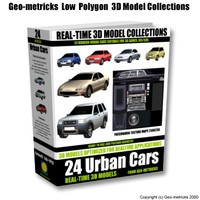 24 urban cars w3d shockwave w3d