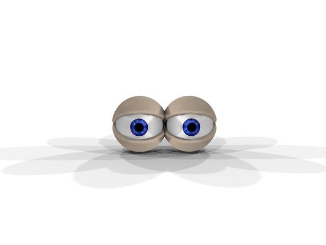 3d cartoon eyes
