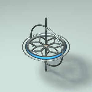 gyroscope zipped 3d model