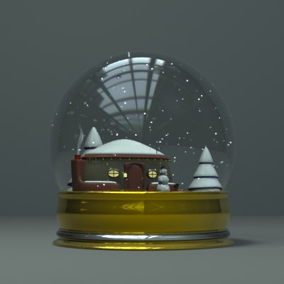 3ds max snow globe
