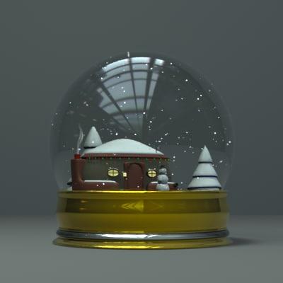lightwave zipped snow globe