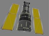 polygonal hubble telescope 3d model
