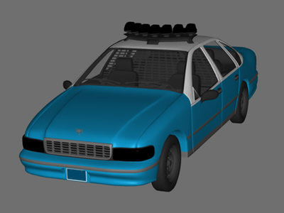 chevy caprice police car 3d model