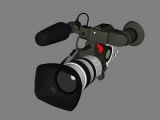 accurate hi-res canon xl1s 3d model