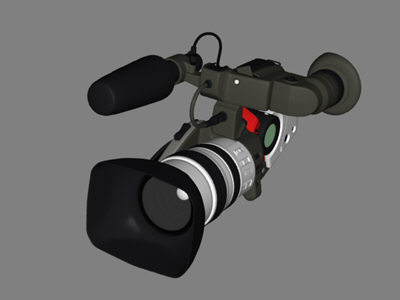 accurate hi-res canon xl1s 3d model