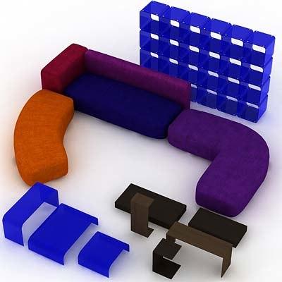 3d furniture sofa divan