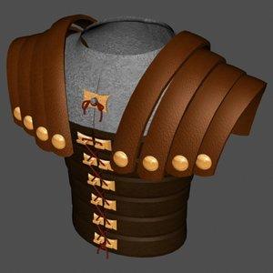 roman torso armor 3d max